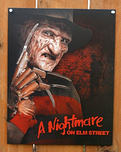 (Nightmare on Elm Street Freddy Krueger Movie Tin Sign 13 x 16in)