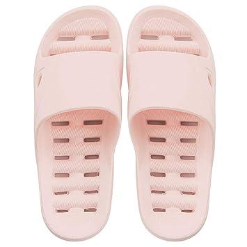 WXMDDN-Zapatillas de baño/Zapatillas de baño/Zapatillas con Fugas/Zapatillas de casa/Zapatillas Antideslizantes/Zapatillas de Pareja/Zapatillas de Fondo ...