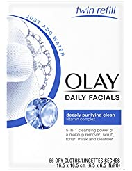 Olay Daily Facial Makeup Remover Wipes & 4-In-1 Water...