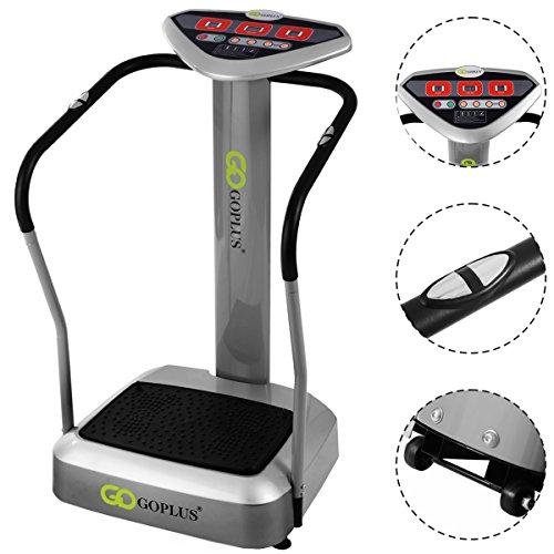 Goplus Full Body Vibration Platform Machine Crazy Fit Massage Fitness Slim, Gray