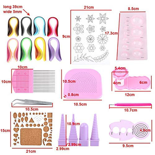Quilling Paper Craft Rolling Kit Slotted Tools Strips Tweezer Pins Slotted Paper Quilling for Decoration Tools Artwor by ElectronicNova
