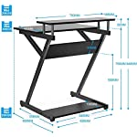 FITUEYES Computer Desk with Keyboard Wood Black Z-Shaped Writing Table Workstation for Home Office 70x60x84cm CD307001WB
