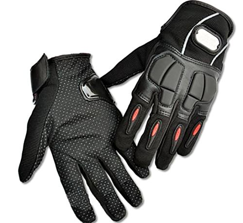IU COMP Motorcycle leather&Lycra Bike full finger Protective gear Racing Gloves,XL Size