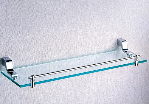 Cloud Power Bathroom Brass Single Glass Shelves Single Glass Shelves With Chrome Wall-mounted Single Glass Shelves