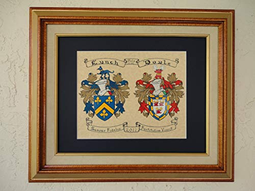 - Double Coat Of Arms. Hand-Painted