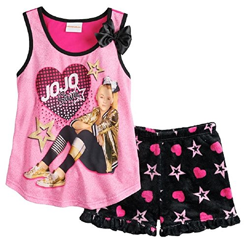 JoJo Siwa Girls Shorts Pajamas Set 4-12 (10) - Kid Connection Kids Pants