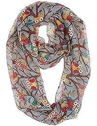 Lightweight Owl Infinity Scarf Fashion Shawl Wrap for Women Gift