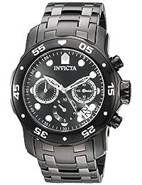 Invicta Men's 'Pro Diver' Quartz Stainless Steel Automatic Watch, Black (Model: 21926)