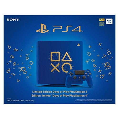 Sony Playstation 4 1Tb Limited Edition Days Of Play Console Bundle  Blue   Playstation 4