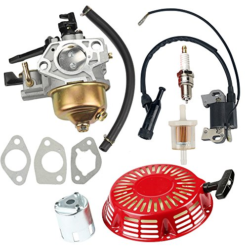 Hilom Carburetor Carb with Recoil Starter for HONDA GX390 GX 390 13HP 4-stroke Engine Lawn Mower Tiller Cultivator replace 16100-ZF6-V01 ()
