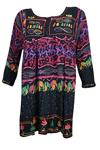 6 Mogul Tunika Damen Kleid Black Interior w767UrxXq