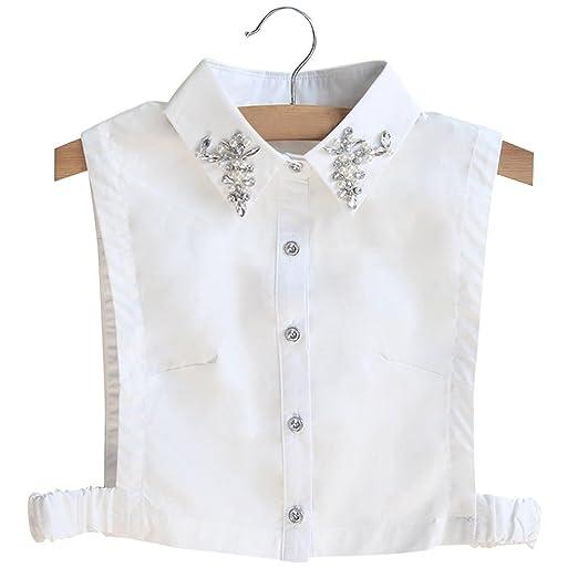1 x modische Abnehmbare Hemdkragen Vintage Elegant Mädchen Damen Fake Faux  Kragen Manschette Chiffon Choker Halbhemd debea7ab02