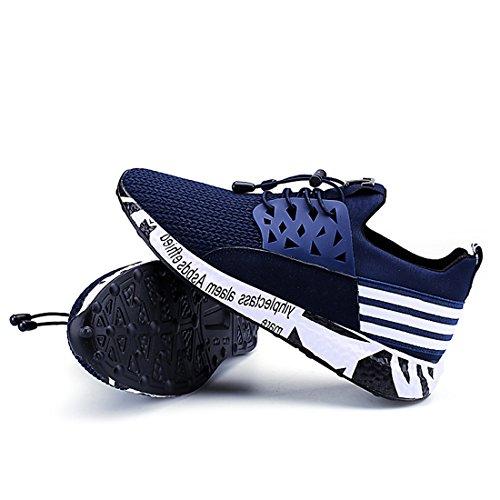 estilo para diseño de de Blue transpirables casual aire camuflaje Trainers correr deportivas Zapatillas de para hombre malla wFn0O