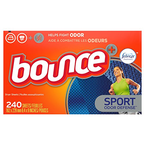Bounce Plus Febreze Sport Odor Defense Fabric Softener Dryer Sheets, 240 Count (Bounce Sheets Spring Dryer)