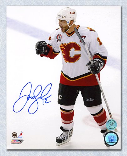 - AJ Sports World Jarome Iginla Calgary Flames Autographed 2004 Stanley Cup Finals 8x10 Photo