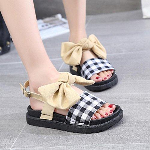 Pantshoes Platform 7 Slingback Beige Flat mujeres 2 Strappy Lolittas Sandals Gladiator Tamaño Summer Beach Black para SqwP86