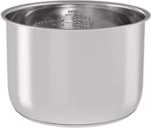 Stainless Steel Inner Pot Replacement Insert Liner Accessory Compatible with Ninja Foodi 8 Quart, By Sicheer