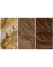 The EARTH TONE Collection - عبوة من 3 صبغات معدنية طبيعية (150 مل|5 أوقية): لون أصفر فاتح | لون بني فاتح | بني طبيعي | بني محروق