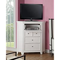 ACME Furniture 30603 Lacey Corner TV Console, White