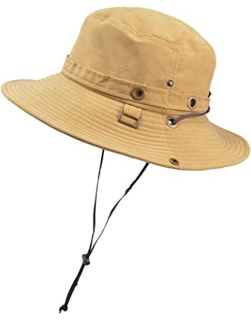 2d452804 FILOL Caps Fashion Summer Outdoor Sun Hat Waterproof Summer UV Protection  Bucket Mesh Boonie Hat Drying