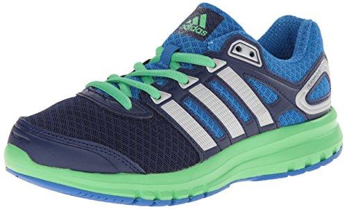 adidas Performance Duramo 6 K Running Shoe, Night Sky/Metallic/Silver/Flash Green, 6.5 M US Big Kid