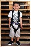 Fusion Climb Warrior Kids Full Body Climbing Rope Course Harness Black