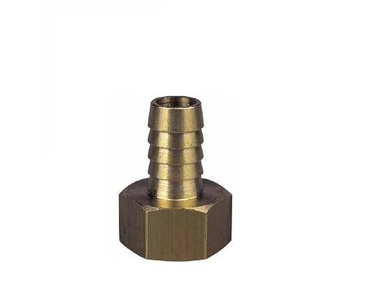 Manguera Adaptadores para tuber/ías de Estanque Piscina Conector de Cola de Manguera de lat/ón Macizo BSP de 9 mm 1//2 Pulgadas a Rosca Hembra