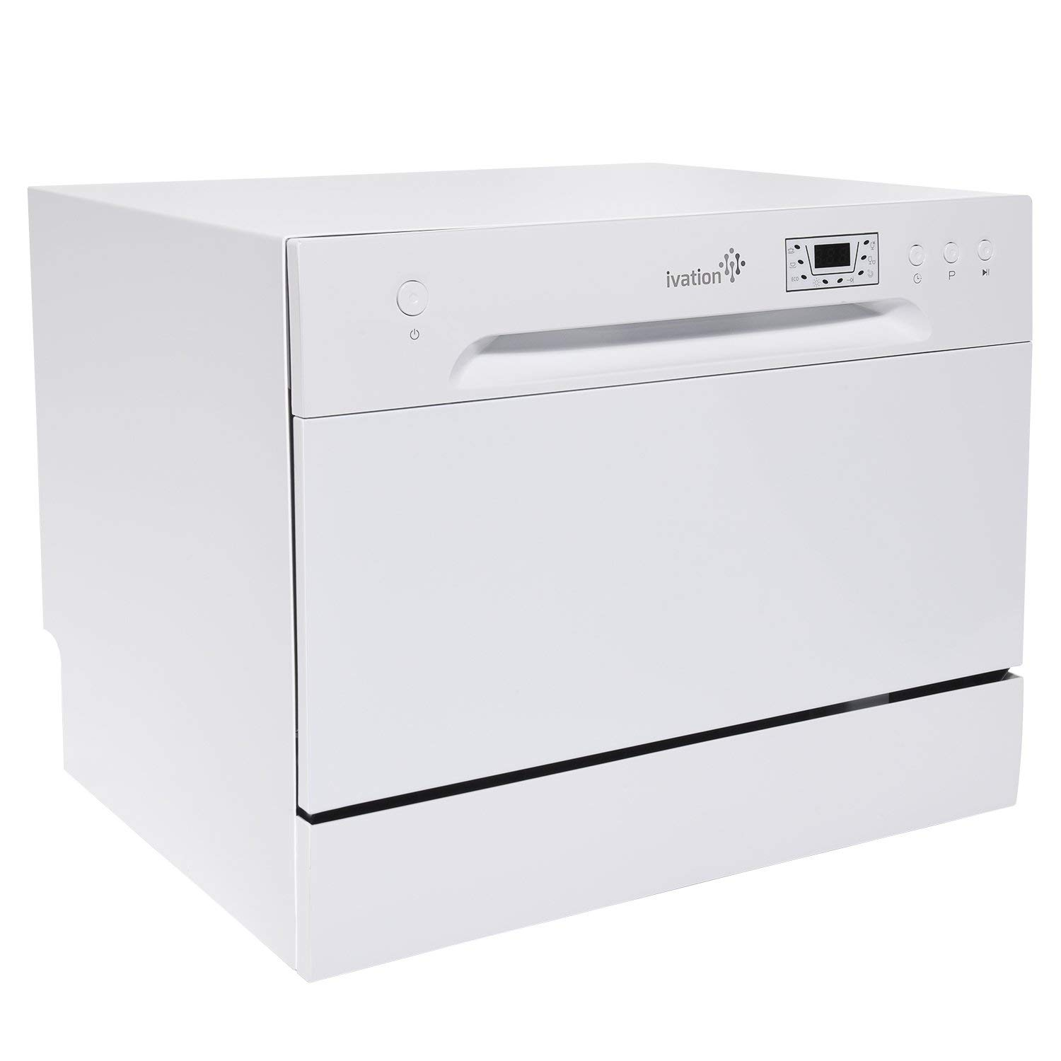 6 Place Setting Capacity Renewed Ivation Portable Dishwasher Countertop Small Compact Dishwasher for Apartment RV Office /& Other Small Kitchens Condo White