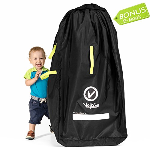 City Mini Lightweight Stroller - VolkGo Durable Stroller Bag for Airplane - Standard or Double/Dual Stroller Gate Check Bag