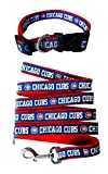 Chicago Cubs Nylon Collar and Matching Leash for Pets (MLB Official by Pets First) Size Large