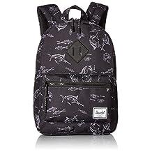Herschel Supply Co. Heritage Kids Backpack, Saltwater/Black Rubber