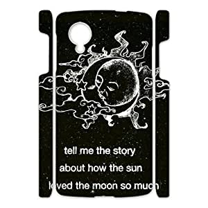 Canting_Good Black Sun and Moon Custom Case Shell Skin for Google Nexus 5 3D