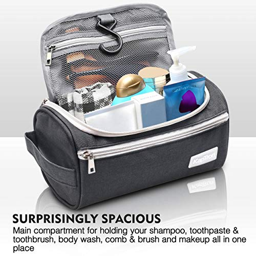 Travel Toiletry Bag – Small Portable Hanging Cosmetic Organizer for Men Women, Makeup, Toiletries, Hygiene Accessories…