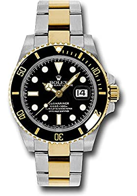 Rolex Oyster Perpetual 40MM Stainless Steel & 18K Yellow Gold Submariner Date With a Black Ceramic Bezel And A Black Stick Dial.