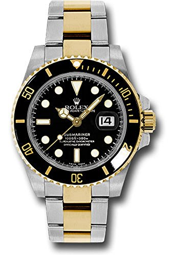 al 40MM Stainless Steel & 18K Yellow Gold Submariner Date With a Black Ceramic Bezel And A Black Stick Dial. ()