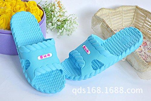 38 cielo leggero e bagno massaggio Ciabatte estive donne blu Casa all'aperto uomini hotel domestico pantofole antiscivolo casa spessa bagno schiuma sandali BAOZIV587 p0qRHS