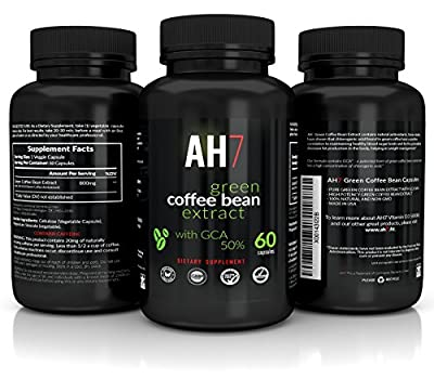 Green Coffee Bean Extract By AH7 100% Pure Highest Quality Antioxident with GCA 50% Chlorogenic Acid for Men and Women Weight Loss Supplement 60 Capsules Made In USA Buy Now