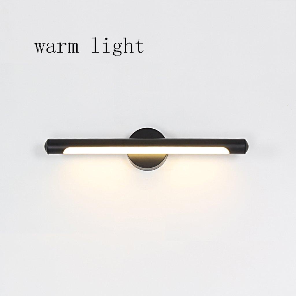 Fenciayao 主導浴室防水防曇バニティミラーバスルームアクセサリー (Color : Warm Light, サイズ : 9w/48.5cm) 9w/48.5cm Warm Light B07QPLJ5WK