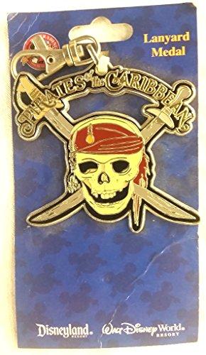 Pirates of the Caribbean Disneyland Lanyard Medal Skull and crossed swordsDiscontinued. ()
