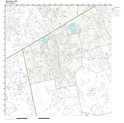 Amazon.com: ZIP Code Wall Map of Brockton, MA ZIP Code Map