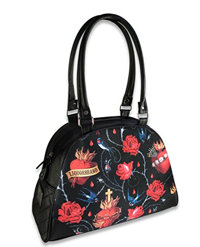 Liquorbrand 'Sacred Hearts' Classic Bowler Bag Purse