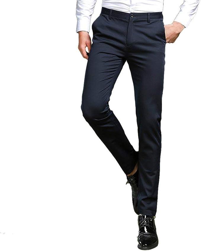 HaiDean Pantalones De Negocios para Hombres Traje Pantalones De ...