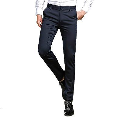 HaiDean Pantalones De Negocios para Hombres Traje Pantalones ...