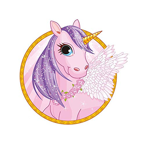 AdornHome-Sticker Wall Stickers Murals Fantasy Flying Horse car Stickers can be transferred 12.7CM x 10.8CM -