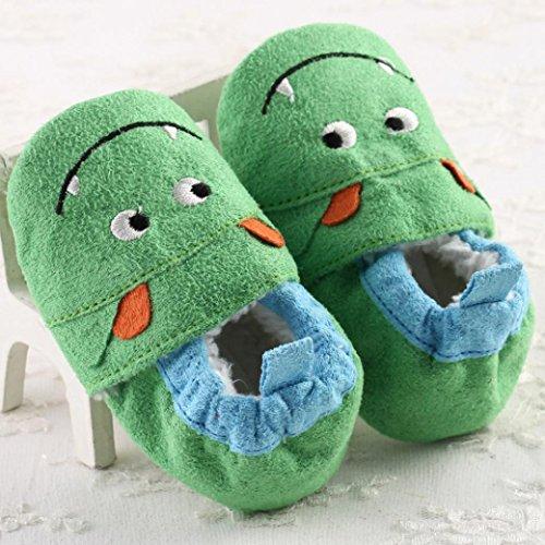 Longra Souple Antidérapant Bébé Vert Enfant Fleur Semelle Chaussures rw6Ir4qU