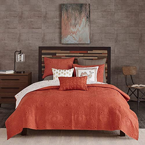 Amazon Com 3 Pc Eclectic Mid Century Modern Red Quilt