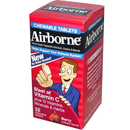 - Best AirBorne, Blast of Vitamin C, Berry, 32 Chewable Tablets, ( 3 PACK ), Vitaminder, Power Shaker Bottle, 20 oz Bottle