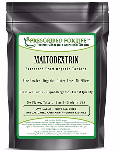 Maltodextrin - Pure Tapioca Quick Dissolving Natural Starch - ING: Organic Powder, 12 oz by Prescribed For Life (Image #2)