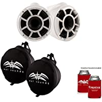 Wet Sounds REV 8 X Mount Tower Speakers with Suitz speaker Covers - WHITE