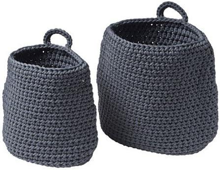 IKEA NORDRANA cestas en gris; 2 tlg.
